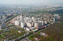 Marfino district of Moscow royalty free stock image