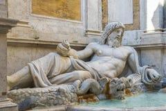 Marforio, estatua de mármol del océano Fotografía de archivo libre de regalías