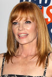 Marg Helgenberger arrives at the 19th Annual Race to Erase MS gala. LOS ANGELES - MAY 18:  Marg Helgenberger arrives at the 19th Annual Race to Erase MS gala at Royalty Free Stock Photos