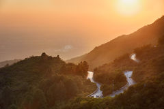 Margalla hills Islamabad Pakistan. Road winding through Maragalla hills in the outskirts of Islamabad, Pakistan stock photography