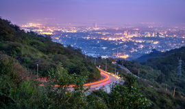 Margalla kulleöverkant Islamabad Pakistan Royaltyfria Bilder
