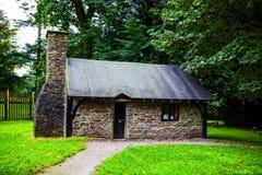 Margam公园的小传统房子 免版税库存照片