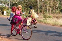 Margao, Goa/Índia 12 de fevereiro de 2018: Celebrações do carnaval em Goa, Índia Imagem de Stock