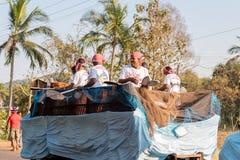 Margao, Goa/Índia 12 de fevereiro de 2018: Celebrações do carnaval em Goa, Índia Imagens de Stock