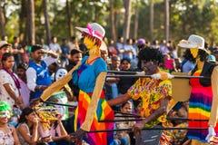 Margao, Goa/Ινδία 12 Φεβρουαρίου 2018: Εορτασμοί καρναβαλιού σε Goa, Ινδία Στοκ φωτογραφία με δικαίωμα ελεύθερης χρήσης