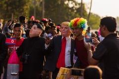 Margao, Goa/Ινδία 12 Φεβρουαρίου 2018: Εορτασμοί καρναβαλιού σε Goa, Ινδία Στοκ εικόνα με δικαίωμα ελεύθερης χρήσης