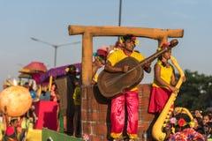 Margao, Goa/Ινδία 12 Φεβρουαρίου 2018: Εορτασμοί καρναβαλιού σε Goa, Ινδία Στοκ Φωτογραφία
