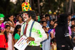 Margao, Goa/Ινδία 12 Φεβρουαρίου 2018: Εορτασμοί καρναβαλιού σε Goa, Ινδία Στοκ Φωτογραφίες