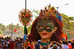 Margao, Goa/Indien 12. Februar 2018: Karnevalsfeiern in Goa, Indien lizenzfreies stockbild