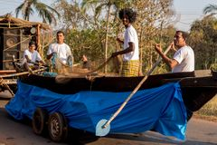 Margao, Goa/Indien 12. Februar 2018: Karnevalsfeiern in Goa, Indien lizenzfreie stockfotografie