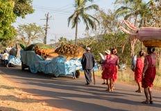 Margao, Goa/Indien 12. Februar 2018: Karnevalsfeiern in Goa, Indien lizenzfreies stockfoto