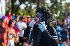 Margao Goa/Indien Februari 12 2018: Karnevalberömmar i Goa, Indien Royaltyfri Fotografi