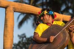 Margao Goa/Indien Februari 12 2018: Karnevalberömmar i Goa, Indien Royaltyfri Foto