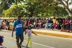 Margao Goa/Indien Februari 12 2018: Karnevalberömmar i Goa, Indien Arkivfoton