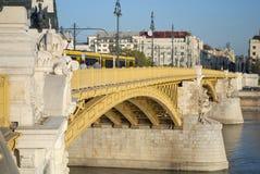 Margaret桥梁在布达佩斯(匈牙利) 库存照片
