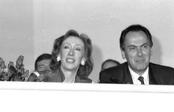 Margaret Beckett and Dr.Jack Cunningham Royalty Free Stock Photo