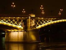 Margaret-Brücke in Budapest über der Donau Stockfotografie