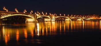 Margaret Bridge. The Margaret Bridge at night, in Budapest, Hungary Royalty Free Stock Image
