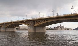 Margaret Bridge. In Budapest, Hungary Royalty Free Stock Images