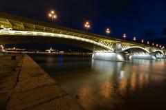 Margaret Bridge in Boedapest royalty-vrije stock afbeeldingen