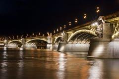 Margaret Bridge in Boedapest royalty-vrije stock fotografie