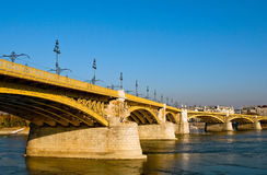 Margaret bridge in Budapest Stock Images