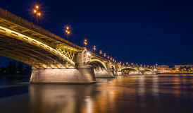 Margaret Bridge, Budapest Royaltyfri Bild