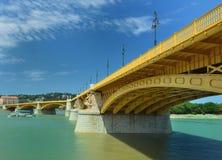 Yellow Margaret Bridge Stock Photography
