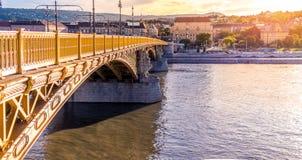 Margaret Bridge Budapest, Hungury Fotos de Stock