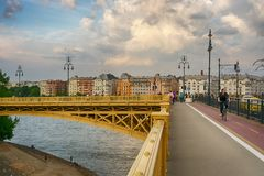 Margaret bridge in Budapest royalty free stock photo