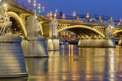 Margaret Bridge ricostruita, Budapest, Ungheria Immagini Stock Libere da Diritti