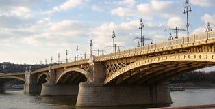 Margaret Bridge. Spans Danube river in Budapest, look from Pest Stock Images