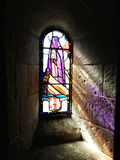 ` Margaret Chapel Edinburgh Castle del St del vitral foto de archivo