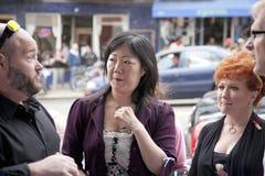 Margaret Cho che sembra sorpreso Immagine Stock