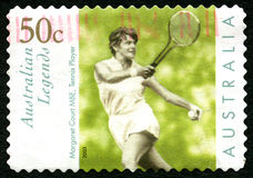 Margaret Court Australian Postage Stamp imagens de stock royalty free