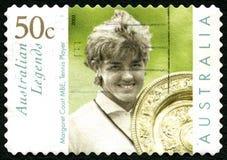 Margaret Court Australian Postage Stamp foto de stock royalty free