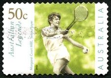 Margaret Court Australian Postage Stamp imagem de stock royalty free