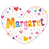 Margaret given name decorative lettering royalty free stock photo