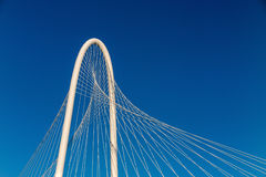 Margaret Hunt Hill Bridge in Dallas stock foto's