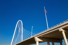Margaret Hunt Hill Bridge in Dallas stock fotografie