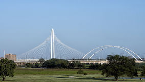 Margaret Hunt Hill Bridge, Dallas royalty-vrije stock fotografie