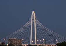 Margaret Hunt Hill Bridge, Dallas Royalty-vrije Stock Afbeelding