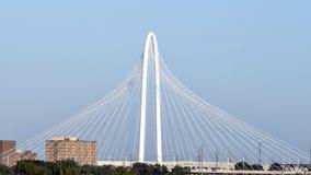Margaret Hunt Hill Bridge Dallas Arkivfoton