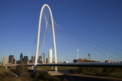 Margaret Hunt Hill Bridge - Dallas Texas Stock Afbeeldingen