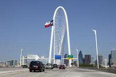 Margaret Hunt Hill Bridge, Dallas, Texas Royalty Free Stock Photos