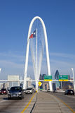 Margaret Hunt Hill bridge in Dallas, Texas Stock Photography