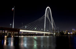 Margaret Hunt Hill Bridge in downtown Dallas, Texas Stock Photo