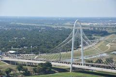 Margaret Hunt Hill Bridge en Dallas, Tejas foto de archivo libre de regalías