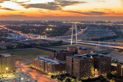 Margaret Hunt Hill bridge by night. Royalty Free Stock Photography