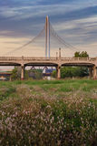 Margaret Hunt Hill Bridge Sunset Stock Image